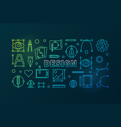Design outline bright banner vector