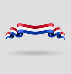 Dutch wavy flag vector image vector image