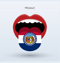 electoral vote of missouri abstract mouth vector image