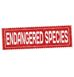 endangered species grunge rubber stamp vector image