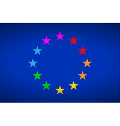 European gay flag vector