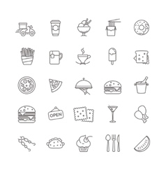fast food icons - stock set vector image
