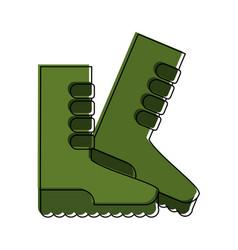 Gardener boots isolated vector
