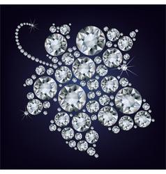 grape-leaf diamond vector image vector image