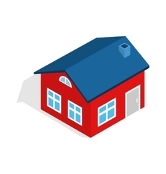 House with attic icon isometric 3d style vector image vector image