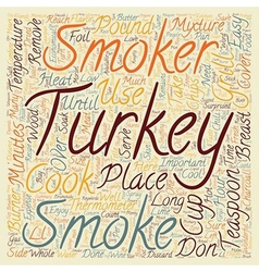 How to smoke a turkey text background wordcloud vector image