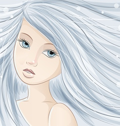 ice girl vector image