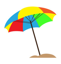 isolated sand umbrella vector image