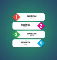 Modern style infographic elements vector