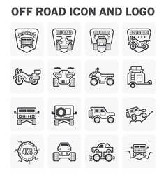 Off road icon vector