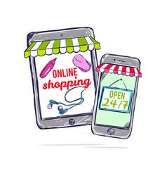 Online shop concept vector