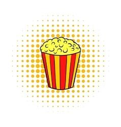 Popcorn comics icon vector