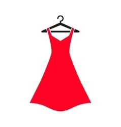 Red dress on hanger vector
