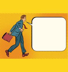 ridiculous businessman says comic bubble vector image