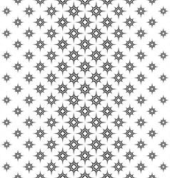 Seamless black white vertical star pattern vector image vector image