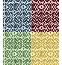 seamless islamic moroccan pattern set arabic vector image vector image