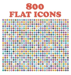 Set of 800 flat icons for web internet mobile vector image vector image
