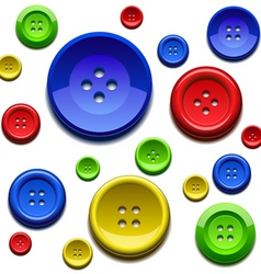 sewing color buttons vector image vector image