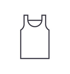 singlet line icon sign on vector image