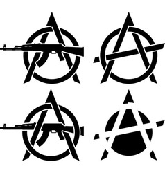 Symbols of anarchy vector