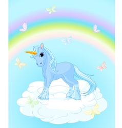 Unicorn on the sky vector