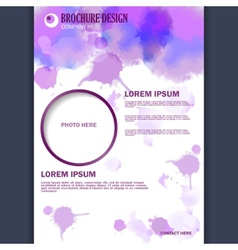 Vertical business brochure for design vector image vector image