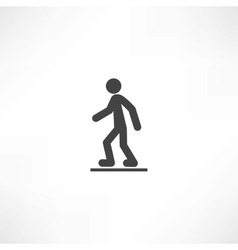Walking man vector image vector image