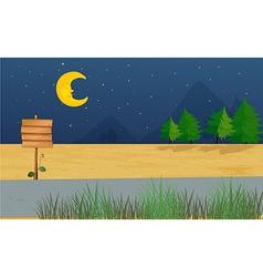 Moonlight Signboard vector image