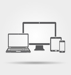Electronic devices icon vector