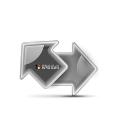 3d glossy arrow technology concept vector