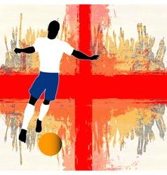 Football England vector image