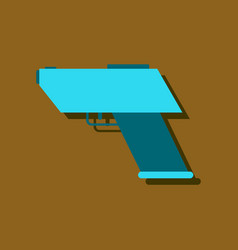 flat icon design collection electric gun in vector image