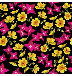Floral seamless pattern with beautiful flowers vector