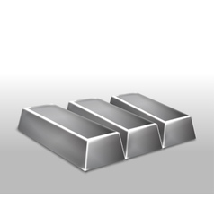 Platinum ingots isolated vector