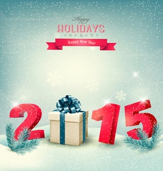 Happy new year 2015 new year design template vector