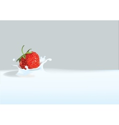 Strawberry in liquid vector