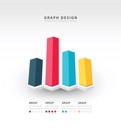 3d arrow infographics vector image