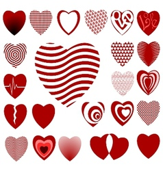 lots of heart designs set 02 vector image