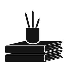Books black icon vector