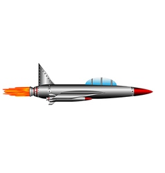 Air fighter on white vector