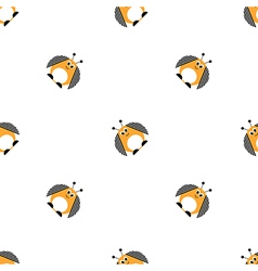 Seamless pattern with comic colorado beetle vector