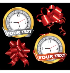 Gift elements vector