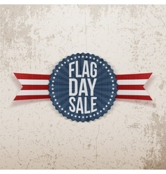 Flag day sale festive emblem with text and shadow vector