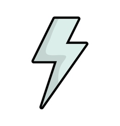 Thunder icon weather design graphic vector