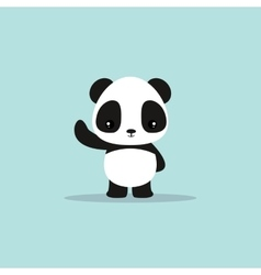 abstract cute panda vector image