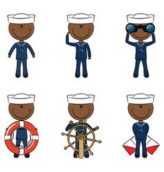 African-American seamen vector image vector image