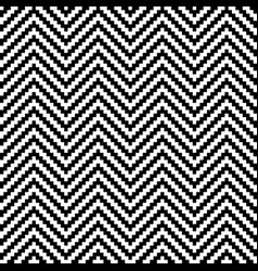 Black and white chevron pixel art seamless pattern vector