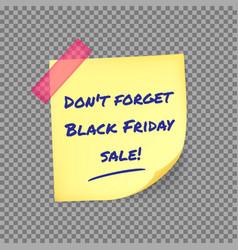 black friday reminder sticker vector image