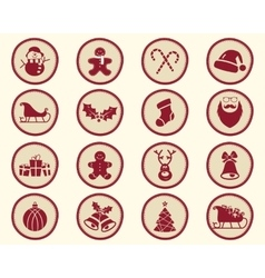 Christmas winter Badge and Design Elements with vector image