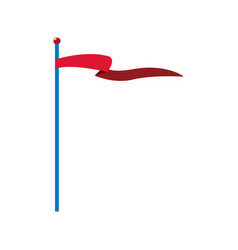 Circus red flag pole waving vector